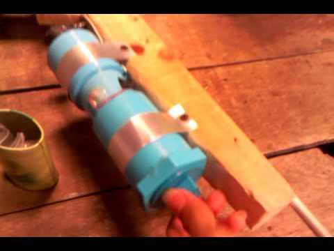 ปืนท่อ pvc (ทดสอบการยิง2  ลูกแก้ว)