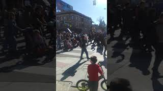Man trash talked Jared Polis and Michael Hancock at MLK March in downtown Denver