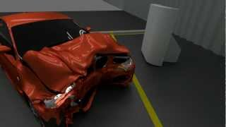Blender 2.66 car crash