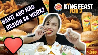 BURGER KING MUKBANG + GRAB FOOD DELIVERY + STORY TIME
