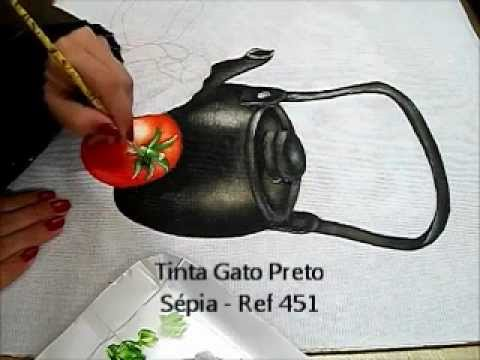 Pintura em Tecido - Como Pintar Tomate - How to paint tomate Music Videos