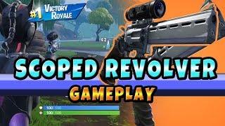 New Scoped Revolver Gameplay Fornite Battle Royale (Fortnite New Weapon)