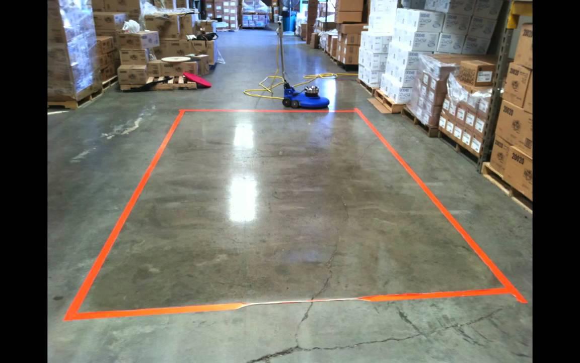 3M Trizact & Stone Floor Protector Demo - YouTube