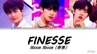 Bboom Bboom (Produce X 101) - FINESSE (Color Coded Lyrics)