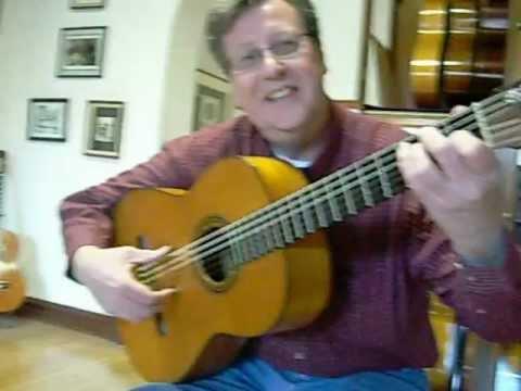Richard Brune plays Ramon Montoya's flamenco guitar