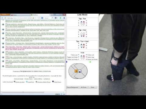 Tap-Kick-Click: Foot Interaction for a Standing Desk