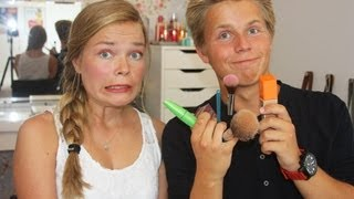 My Twin Brother Does my Makeup!