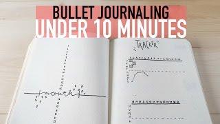 Bullet Journaling UNDER 10 MINUTES    Minimalist Spreads