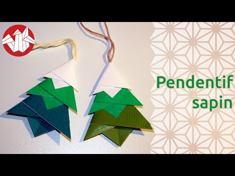 origami d co de no l pendentif sapin christmas tree. Black Bedroom Furniture Sets. Home Design Ideas
