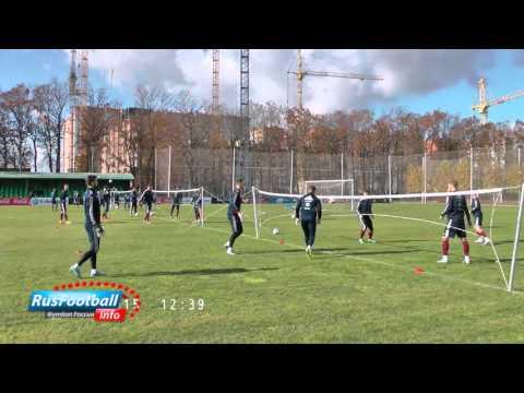 Тренировка вратарей сборной России: Акинфеев, Лодыгин, Ребров