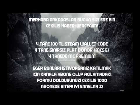400TL STEAM CODE + 4 PLAT DONOR + 4 MC PREMİUM ÇEKİLİŞİ!!!!!