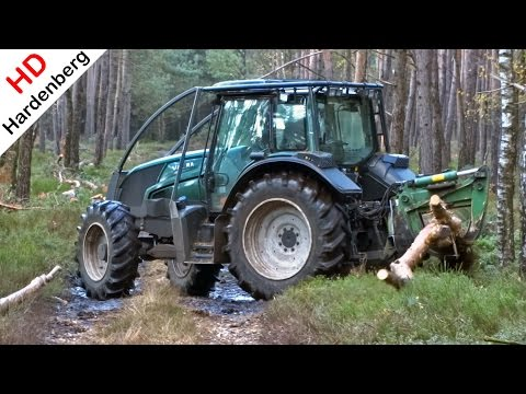 Valtra Forestry Tractor | Drag trees in the forest at the Veluwe in Holland | van de Brink.