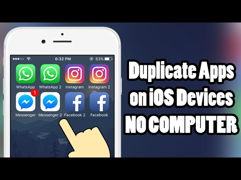 How to duplicate APPS on iOS 10 - iOS 10.2 - without a COMPUTER