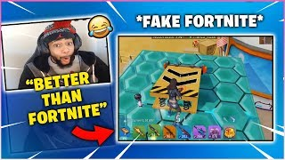 DAEQUAN Plays FAKE Fortnite & WINS HIS FIRST GAME! (Creative Destruction )