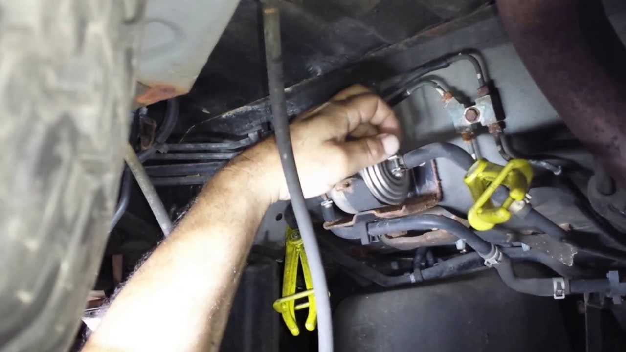 change fuel filter pathfinder or qx4