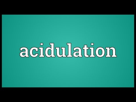 Header of Acidulation