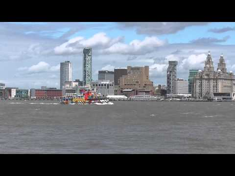 Mersey Ferry and Liverpool Skyline