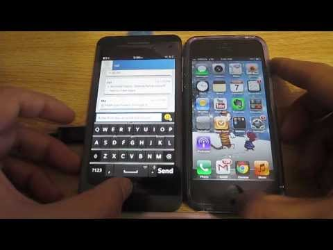 Blackberry Z10 vs iPhone 5