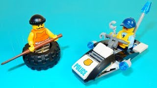 Lego City Police Tire Escape Silly Play