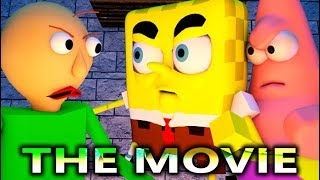 BALDI'S BASICS VS SPONGEBOB THE MOVIE! (Official) Baldi Minecraft Animation Horror Game