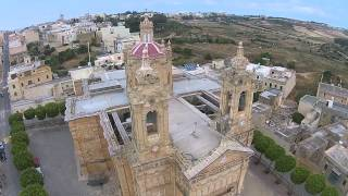 Qala Church Gozo HD Drone 2015
