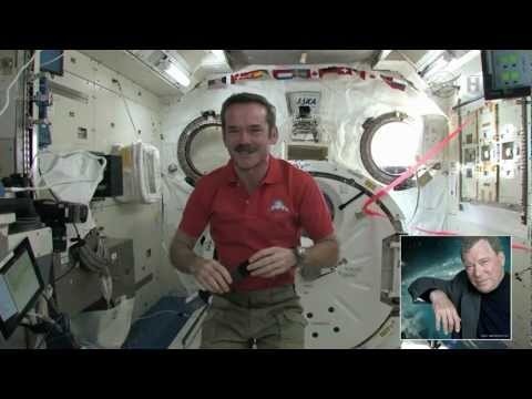 Chris Hadfield and William Shatner connect in CSA Tweetup