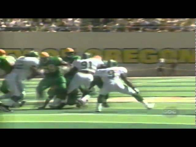Oregon WR Tony Hartley big catch on 4th down vs. Michigan State 9-08-98
