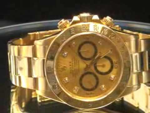 Daytona Mens Rolex Solid Gold Youtube