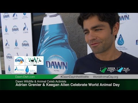 Adrian Grenier & Keegan Allen Celebrate World Animal Day with Dawn Wildlife