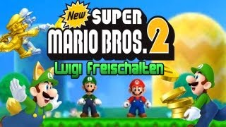 New Super Mario Bros. 2 - Luigi in New Super Mario Bros. 2 freischalten