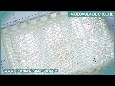 Cortina de Crochê com Barbante em Croche Filé Floral - Aprendendo Crochê Music Videos