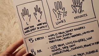 ASMR How to Read Palms ☾ Soft Spoken with Sharpie
