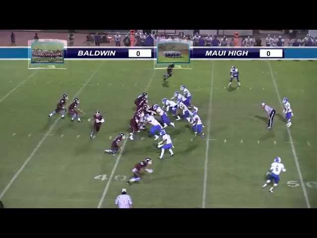 Maui High vs Baldwin Football 10/10/2014