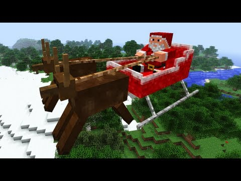 Minecraft Christmas - Mod Review: Flying Santa