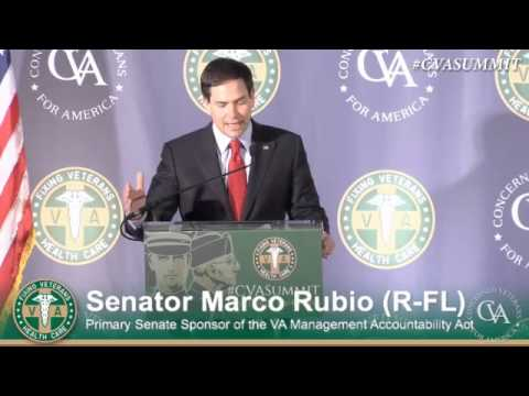 Rubio Addresses Veterans Health Care Policy Summit