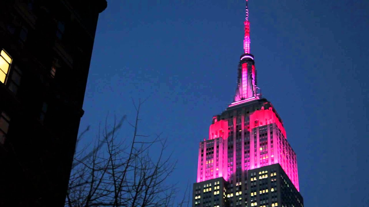 Empire State Building Lights For Valentines Day 2014