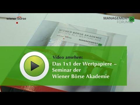Das 1x1 der Wertpapiere - Seminar der Wiener Börse Akademie