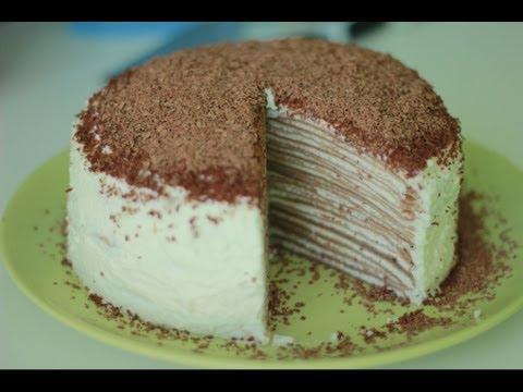 Как приготовить блинный торт - видео