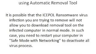 Remove ICEPOL Ransomware And ICEPOL Ransomware Uninstall Guide
