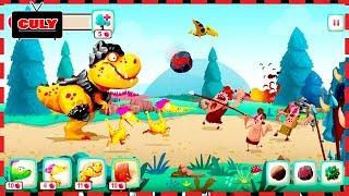 chơi Bảo vệ trứng khủng long bị người tiền sử đánh cắp Dino bash cu lỳ chơi game lồng tiếng vui nhộn