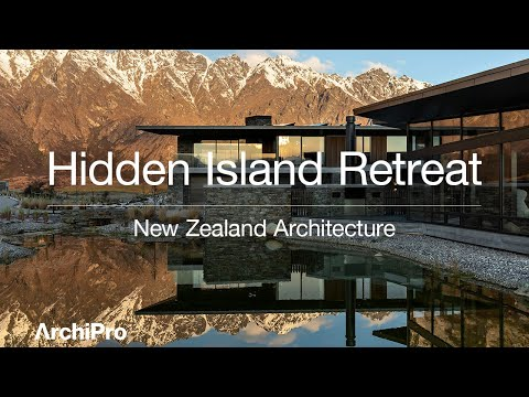 Hidden Island Retreat - a powerful composition of architectural form
