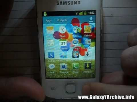 Installing Galaxy S3 Launcher on Samsung Galaxy Y + Quick Preview