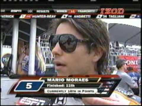 2009 Indycar Toronto - EJ Viso and Mario Moraes incident Video