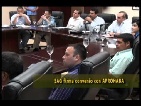 SAG firma convenio con APROHABA
