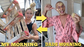 I swapped MORNING ROUTINES with my Dad!!