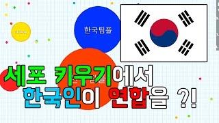 세포키우기 게임에서 한국인끼리 연합을 해본다 ! / KOREAN POWER IN Agar.io or Agario