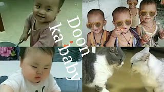 Cute child funny and cat vmate video//funny cute baby