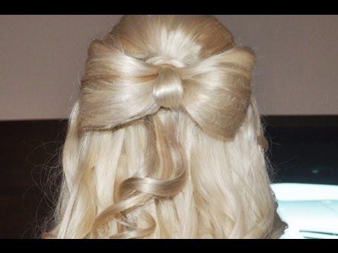 Penteado com Laço feito de Cabelo! ♡