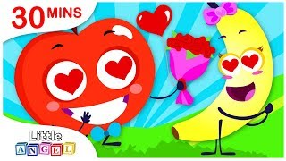 Valentines Day Song with Apples and Bananas, No No, Princess Song | Kids Songs by Little Angel