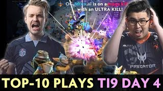 TOP-10 BEST PLAYS of The International 2019 — FINAL DAY Group Stage